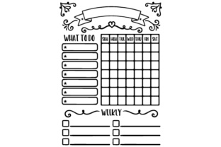 Chore Chart Designs & Drawings Craft Cut File By Creative Fabrica Crafts