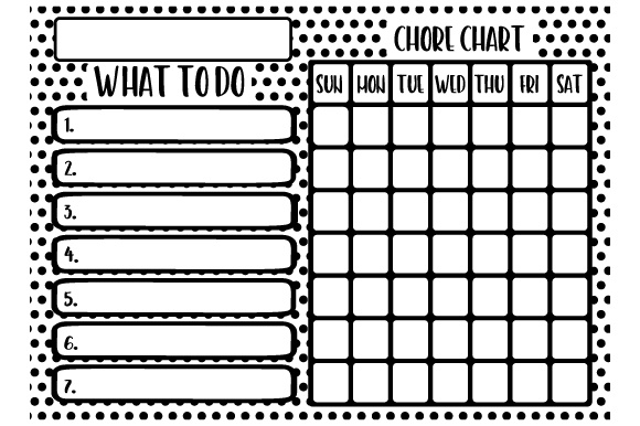 Chore Chart Designs & Drawings Craft Cut File By Creative Fabrica Crafts - Image 2