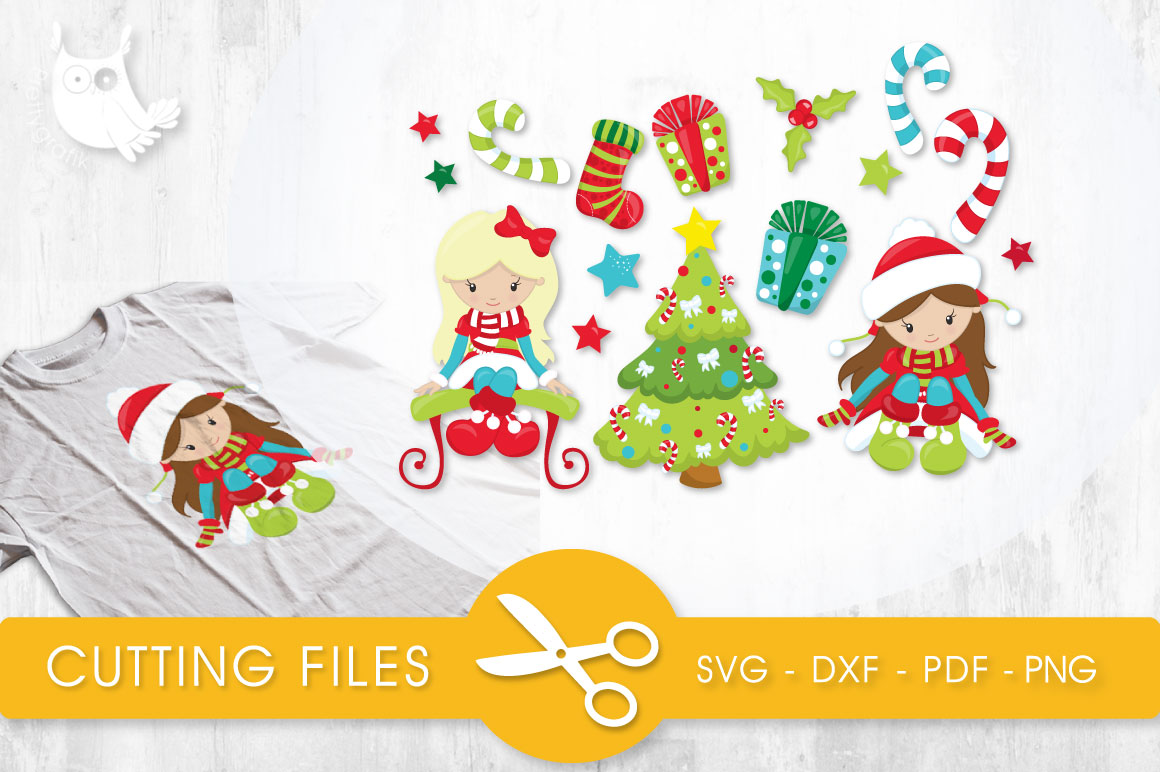 Download Free Christmas Cuties Graphic By Prettycuttables Creative Fabrica for Cricut Explore, Silhouette and other cutting machines.