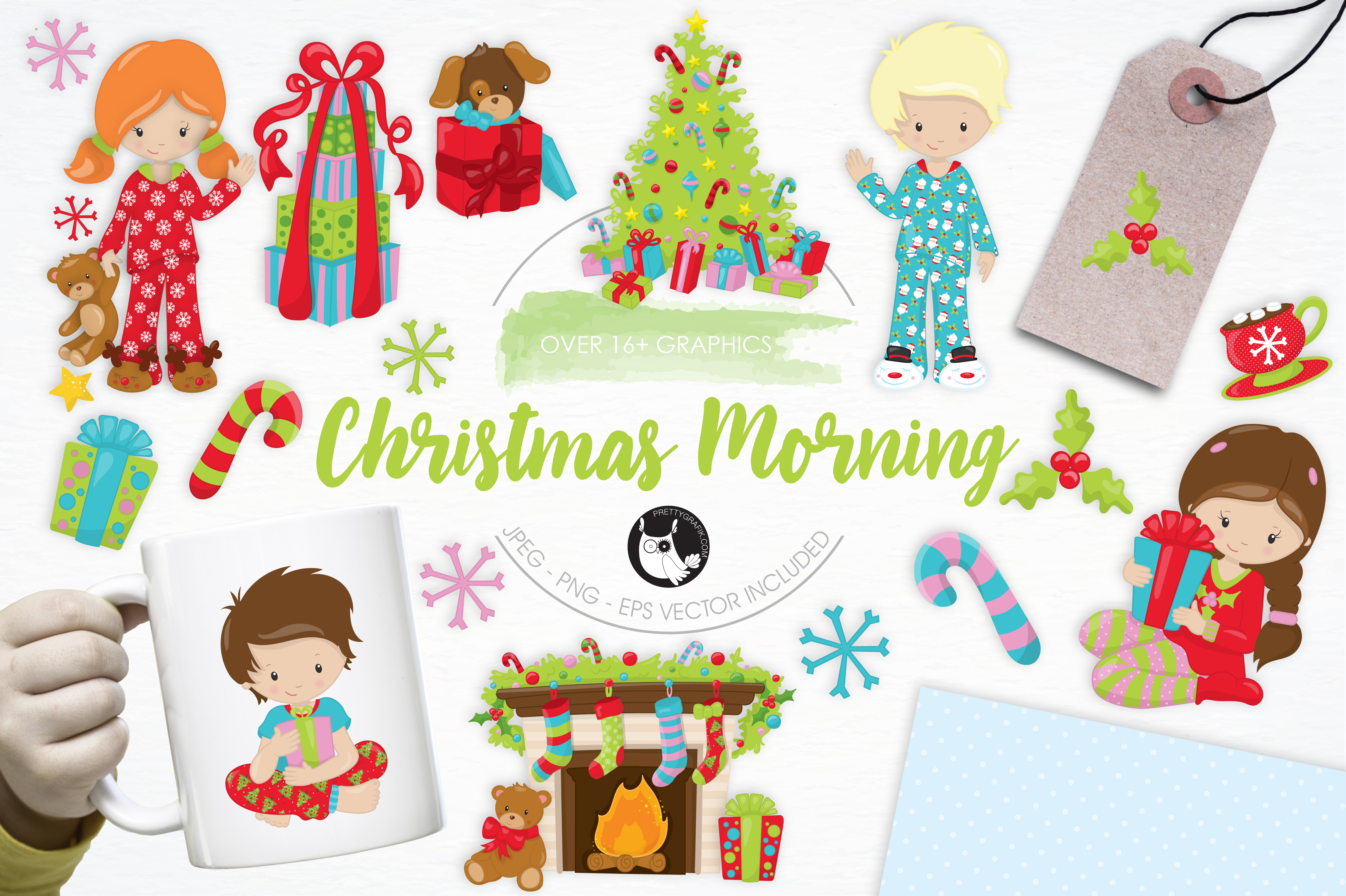 Print on Demand: +16 Christmas Morning Graphic Illustrations By Prettygrafik