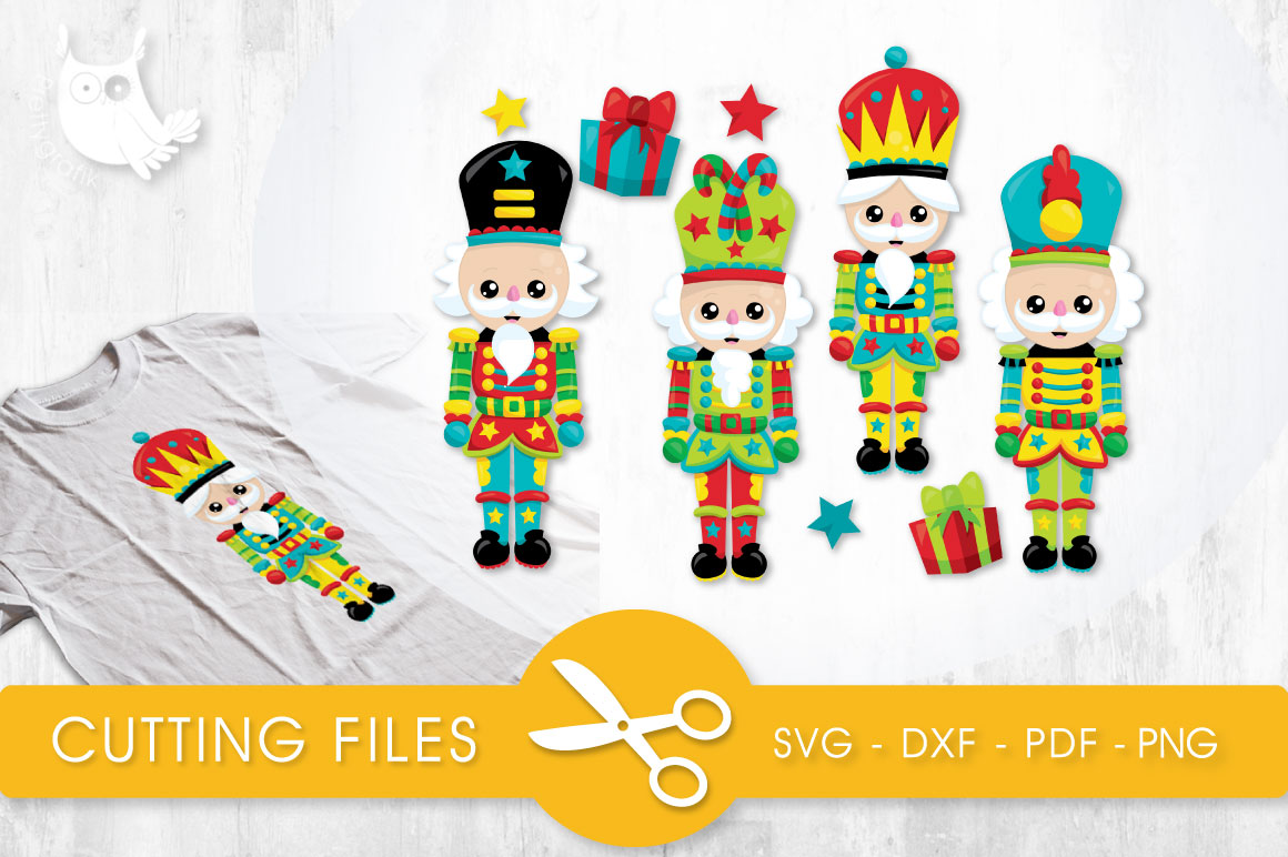 Christmas Nutcrackers Graphic Crafts By PrettyCuttables