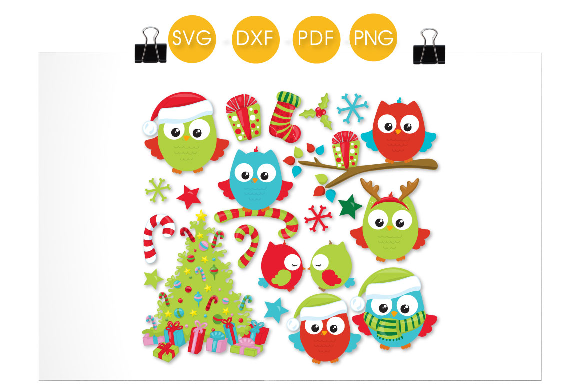 Download Free Christmas Tree Owls Graphic By Prettycuttables Creative Fabrica SVG Cut Files
