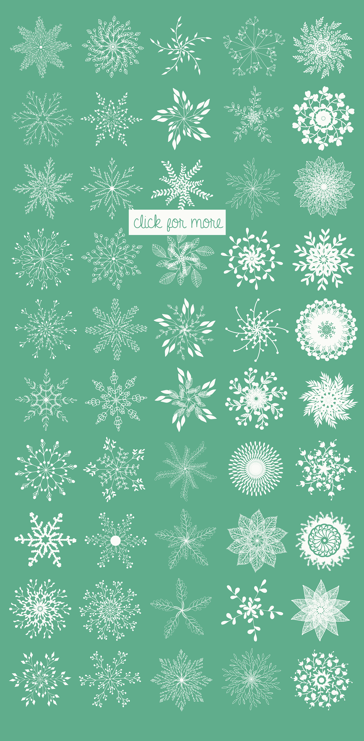 Print on Demand: Christmas Vector Snowflakes Clipart Graphic Illustrations By illuztrate - Image 3