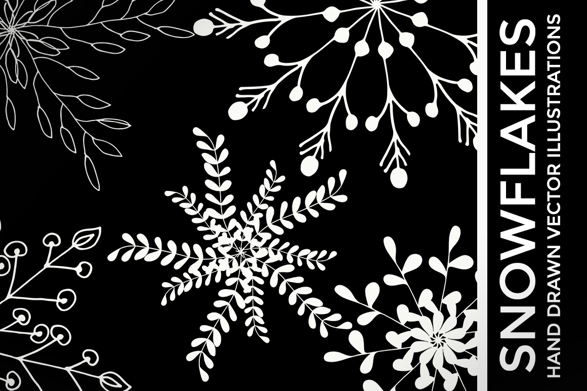 Print on Demand: Christmas Vector Snowflakes Clipart Graphic Illustrations By illuztrate