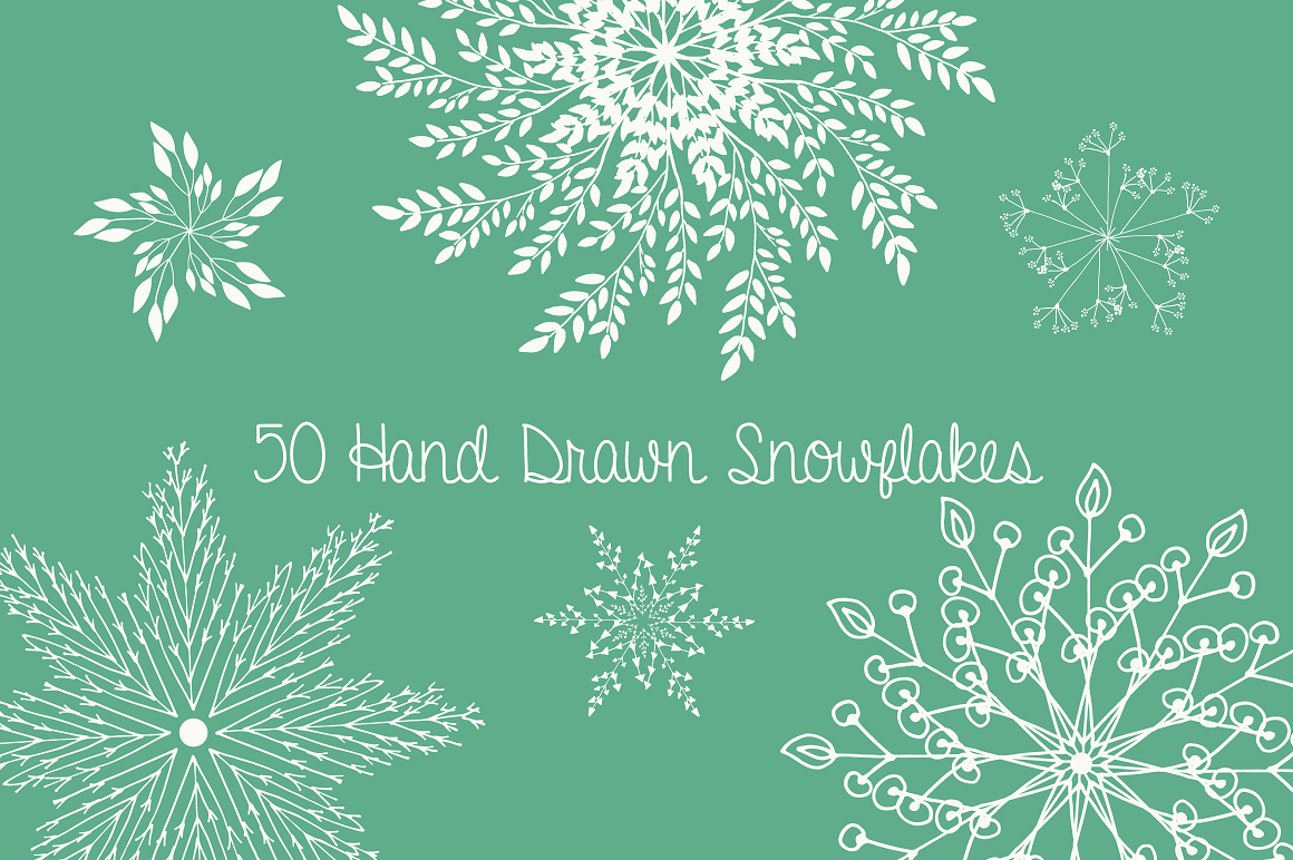 Print on Demand: Christmas Vector Snowflakes Clipart Graphic Illustrations By illuztrate - Image 2