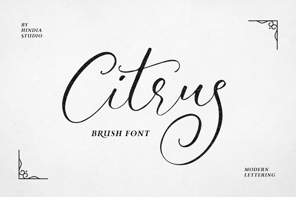 Print on Demand: Citrus Script & Handwritten Font By Hindia Studio