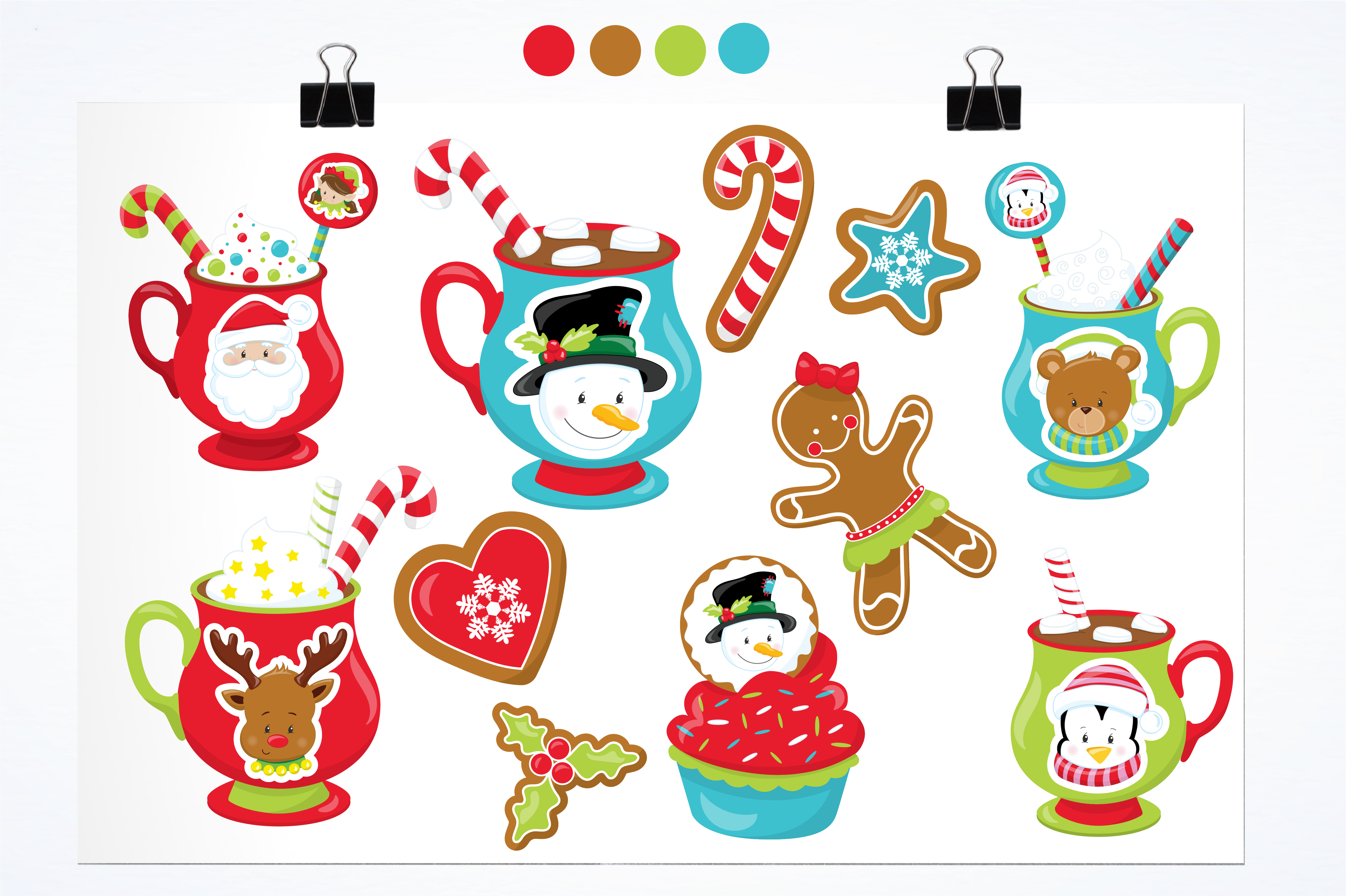 Download Free Cocoa Cookies Graphic By Prettygrafik Creative Fabrica for Cricut Explore, Silhouette and other cutting machines.