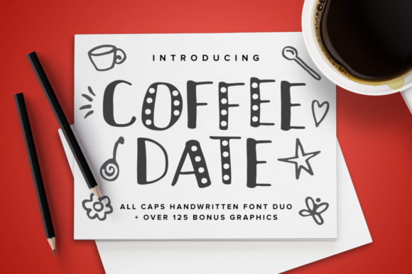 Print on Demand: Coffee Date Sans Serif Font By Running With Foxes