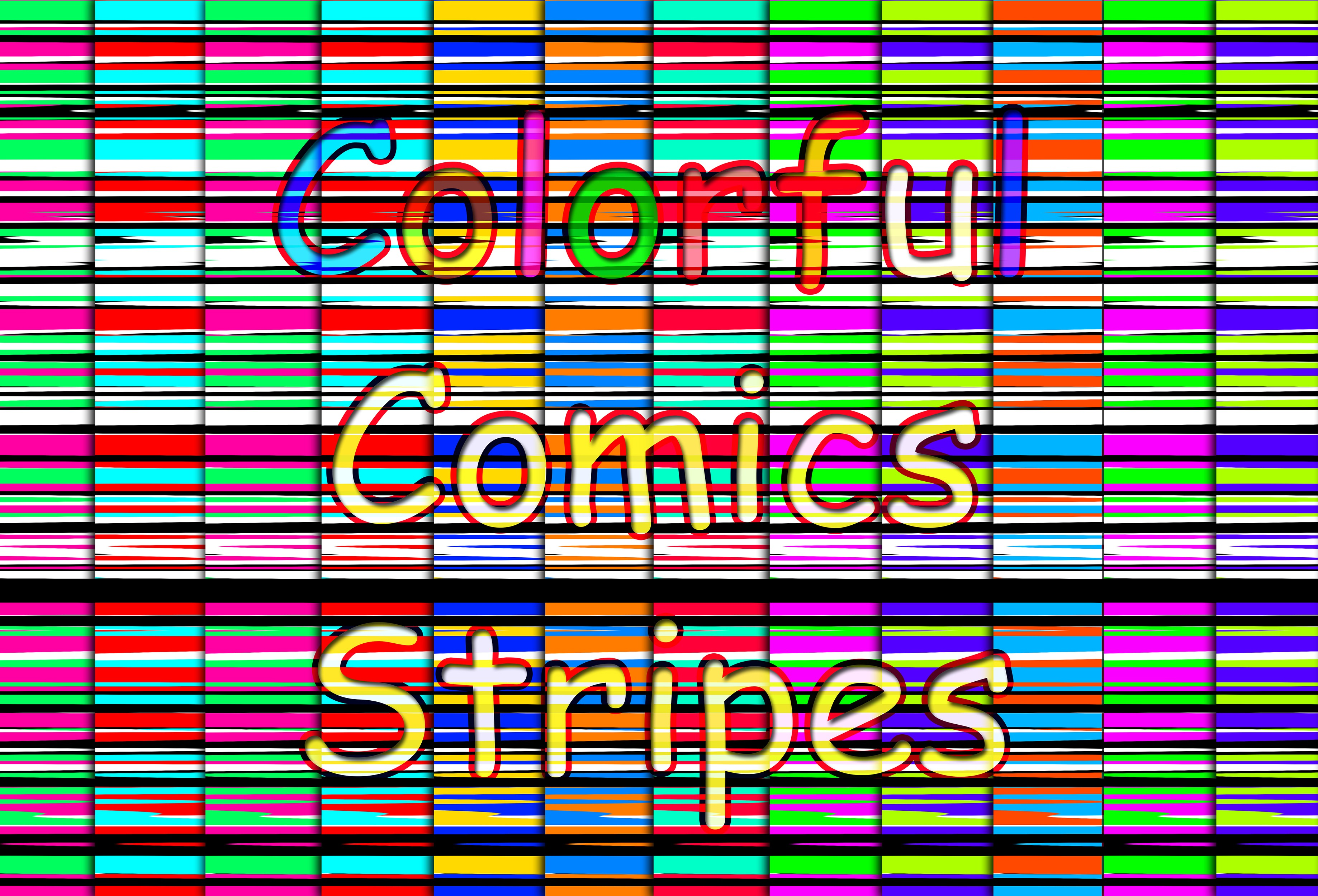 Colorful Comics Stripes Graphic Backgrounds By vessto