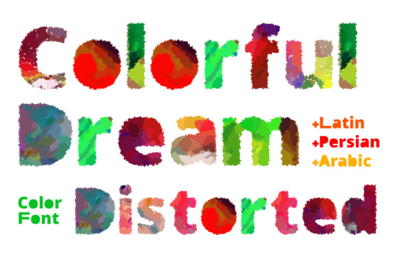 Print on Demand: Colorful Dream Distorted Color Fonts Font By shahab.siavash