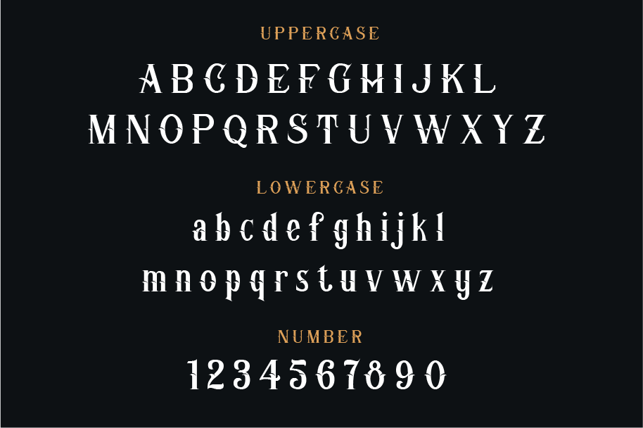 Print on Demand: Corner Stone Blackletter Font By yellowline - Image 3