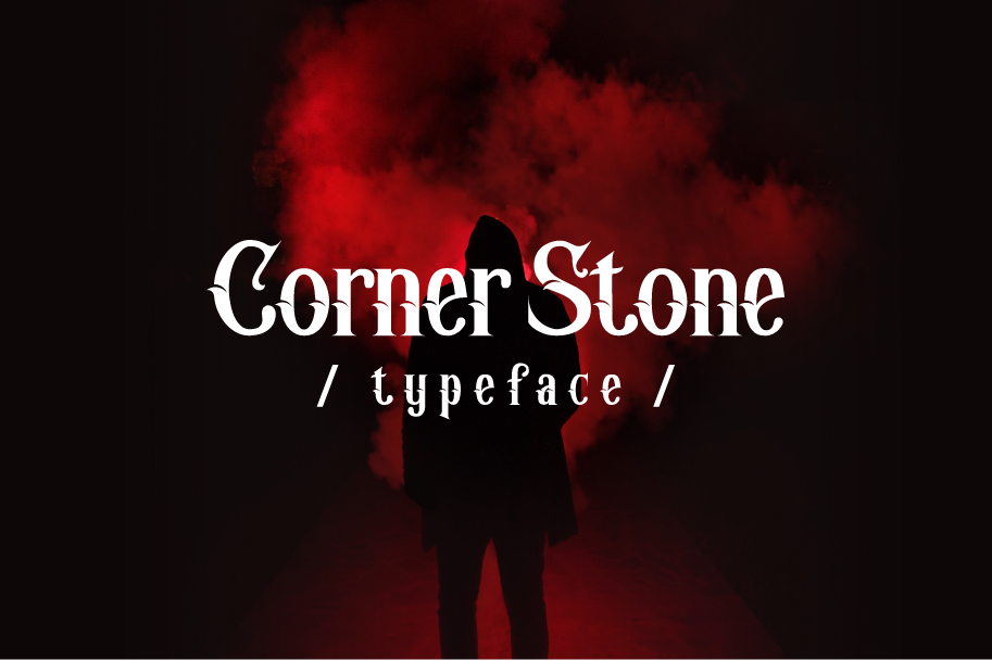 Print on Demand: Corner Stone Blackletter Font By yellowline - Image 1