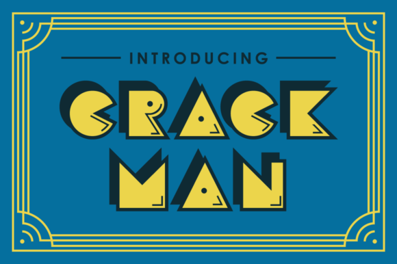 Print on Demand: Crack Man Decorative Font By Typodermic