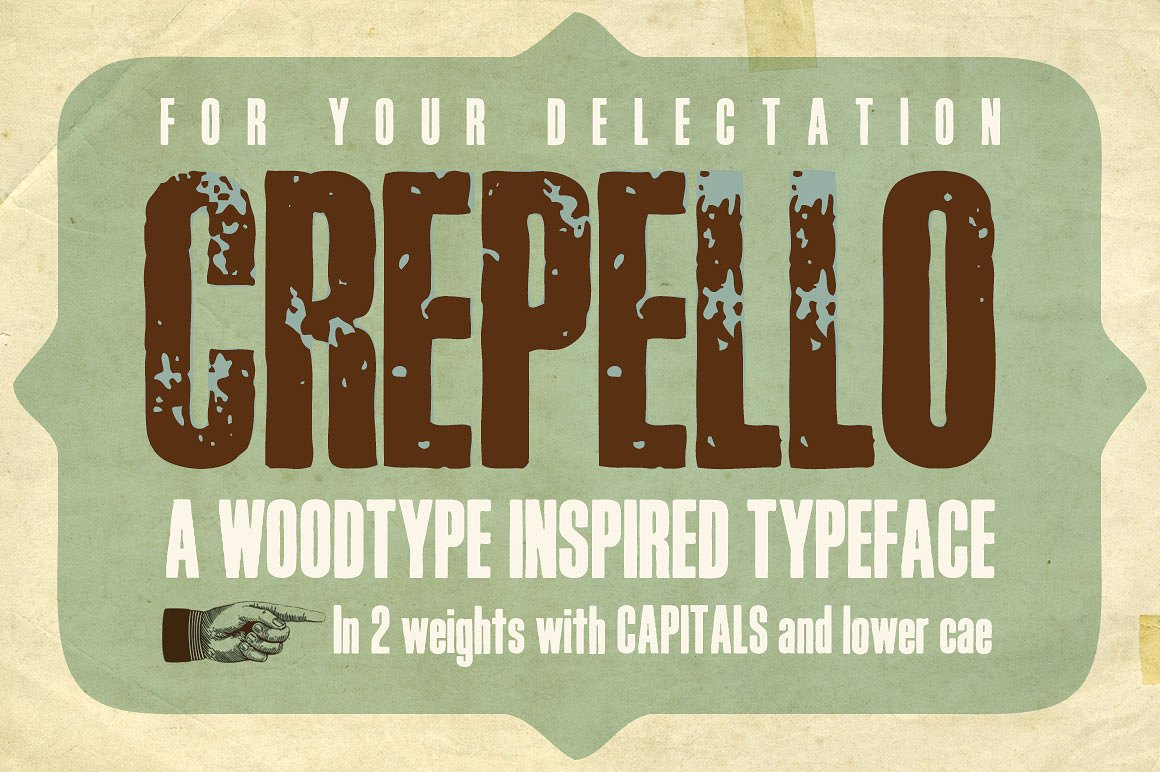 Print on Demand: Crepello Display Font By K22 Foundry