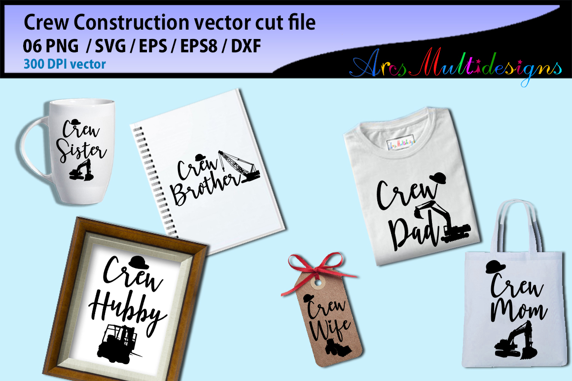 Download Free Crew Construction Cut Vector Graphic By Arcs Multidesigns for Cricut Explore, Silhouette and other cutting machines.
