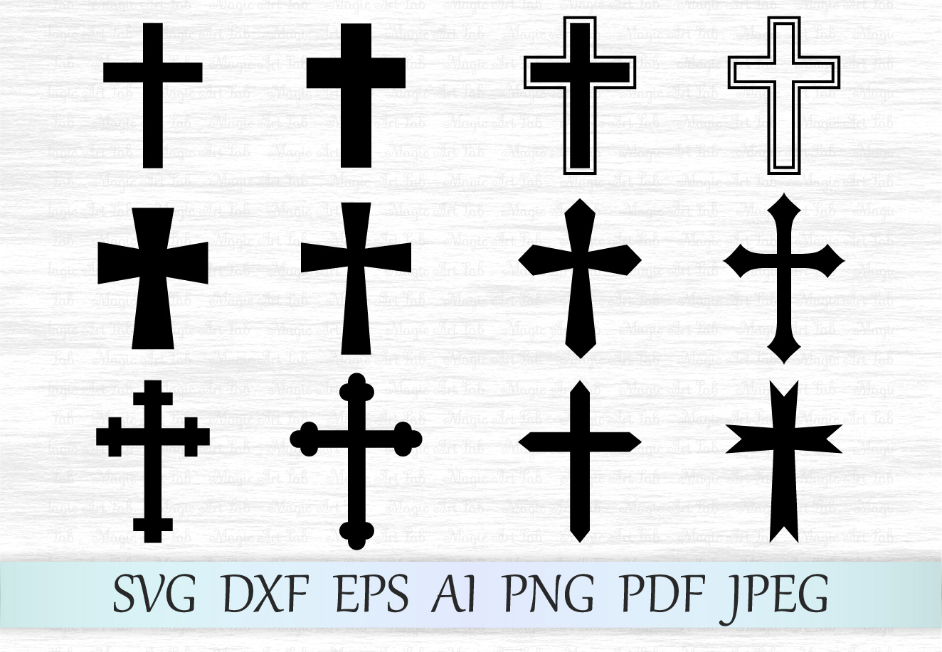 Download Free Crosses Graphic By Magicartlab Creative Fabrica for Cricut Explore, Silhouette and other cutting machines.