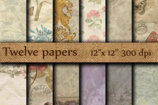 Crumpled Digital Paper Graphic Backgrounds By twelvepapers