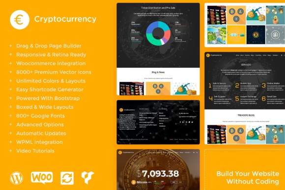 Download Free Cryptocurrency Wordpress Theme Graphic By Visualmodo Wordpress for Cricut Explore, Silhouette and other cutting machines.