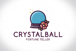 Download Free Crystal Ball Logo Template Graphic By Vectorwithin Creative for Cricut Explore, Silhouette and other cutting machines.