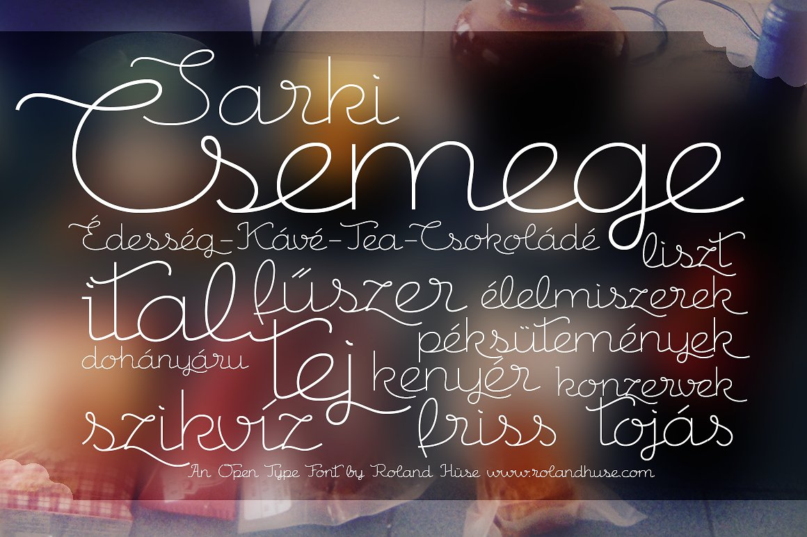 Print on Demand: Csemege Script & Handwritten Font By Roland Hüse Design