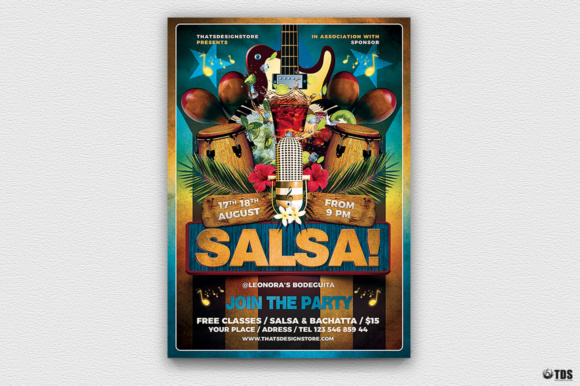 Cuban Live Salsa Flyer Template V1 Graphic By ThatsDesignStore
