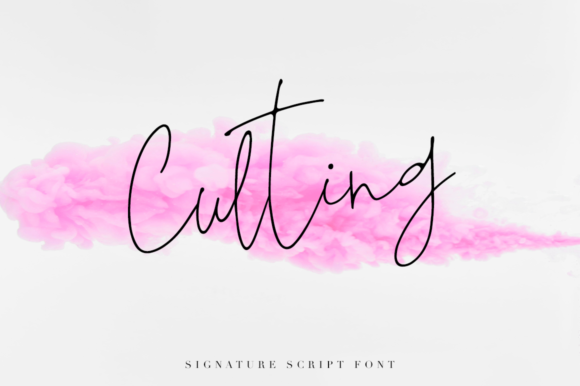 Culting Script & Handwritten Font By Pasha Larin