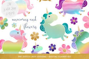 Download Free Cute Unicorn Pony Clipart Set Graphic By Daphnepopuliers for Cricut Explore, Silhouette and other cutting machines.