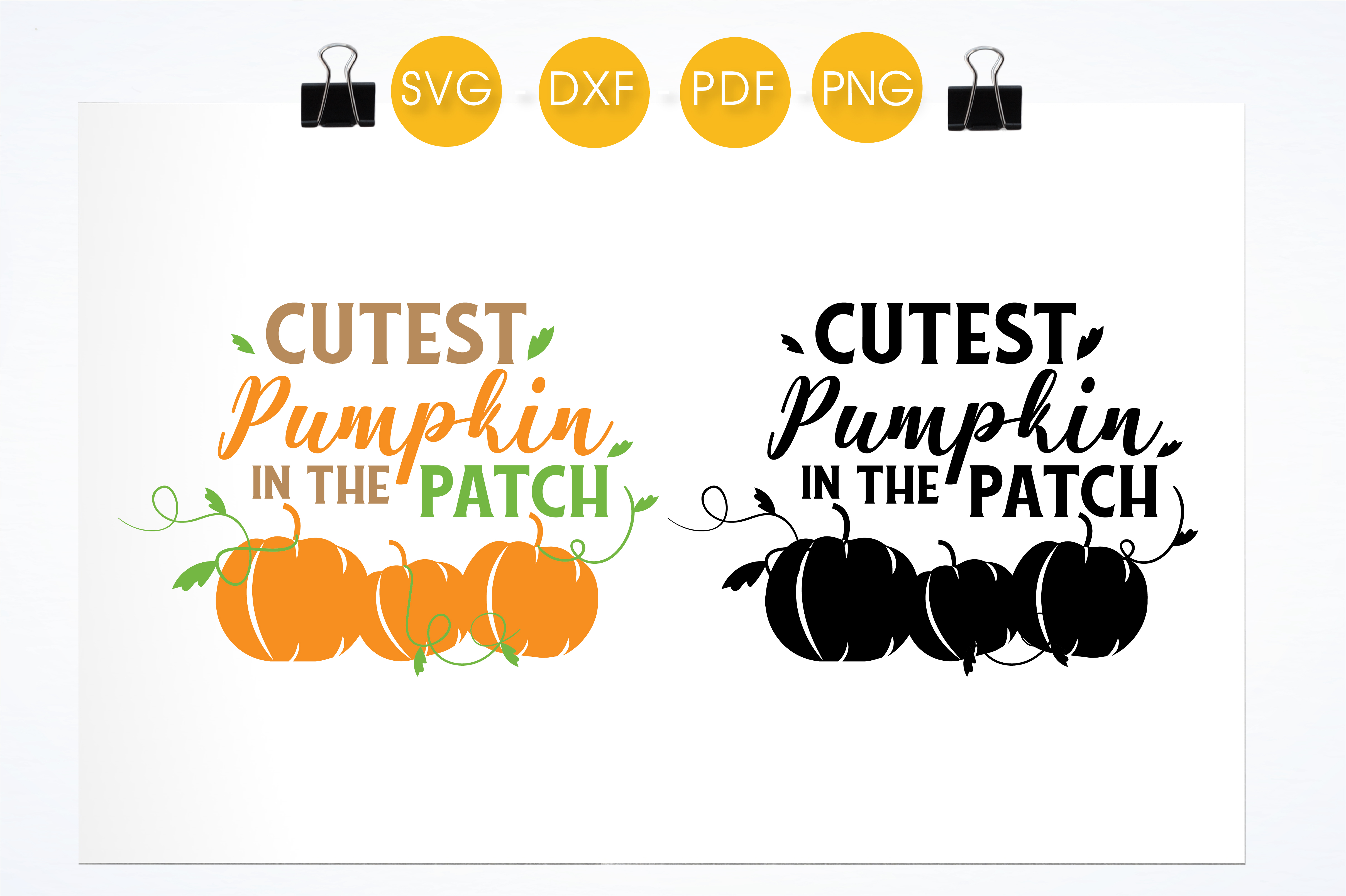 Download Free Cutest Pumpkin In The Patch Colorful Graphic By for Cricut Explore, Silhouette and other cutting machines.