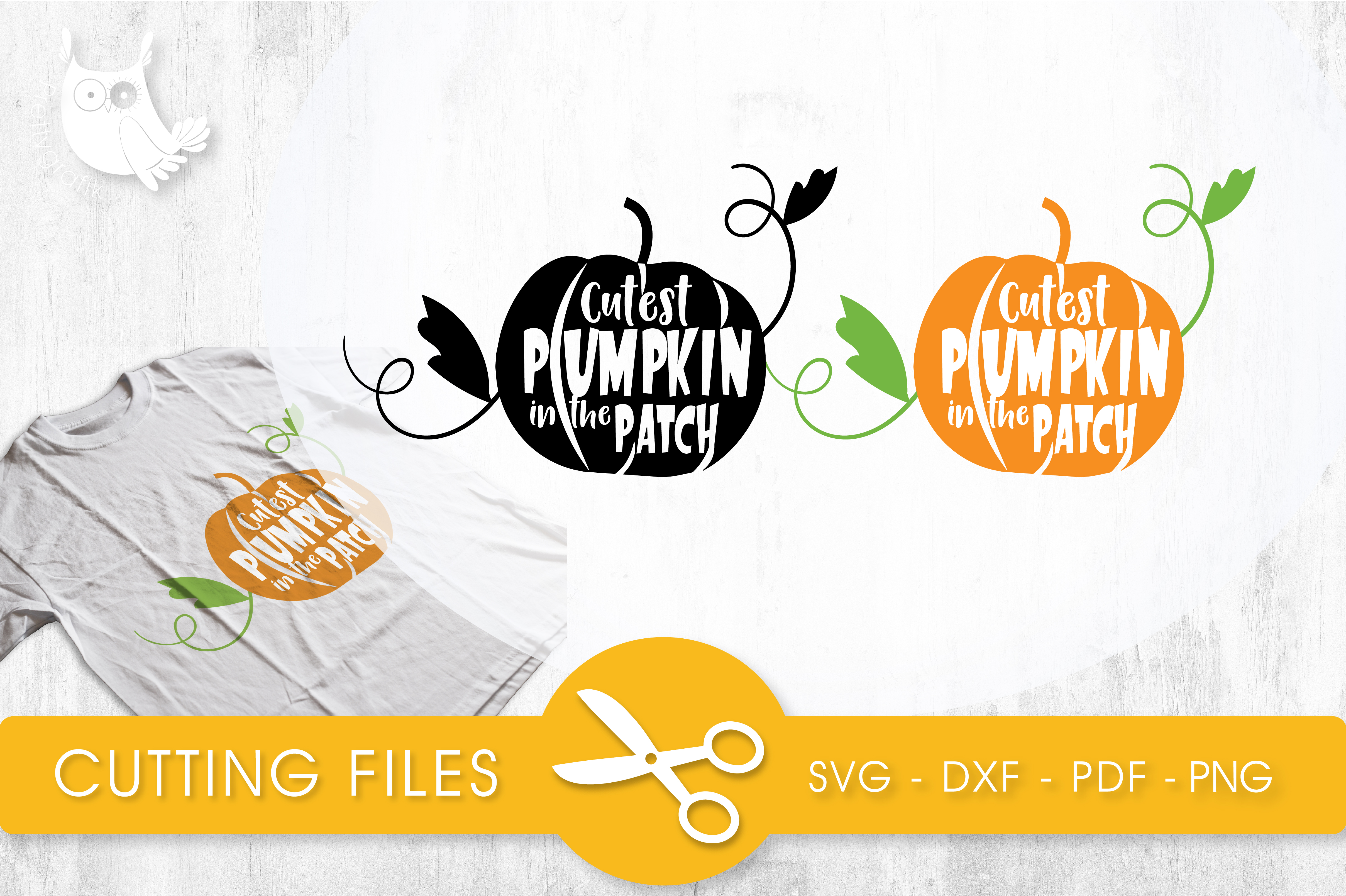 Download Free Cutest Pumpkin In The Patch Graphic By Prettycuttables for Cricut Explore, Silhouette and other cutting machines.