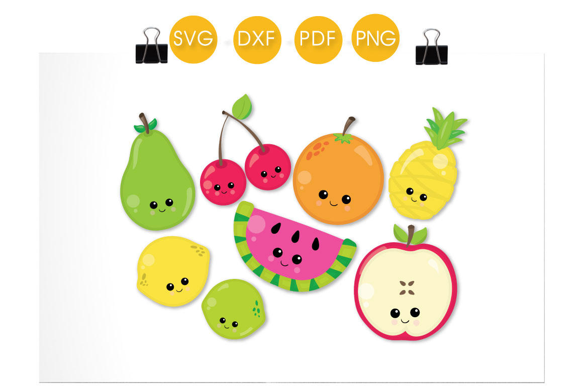 Cutesy Fruit Graphic Crafts By PrettyCuttables - Image 2