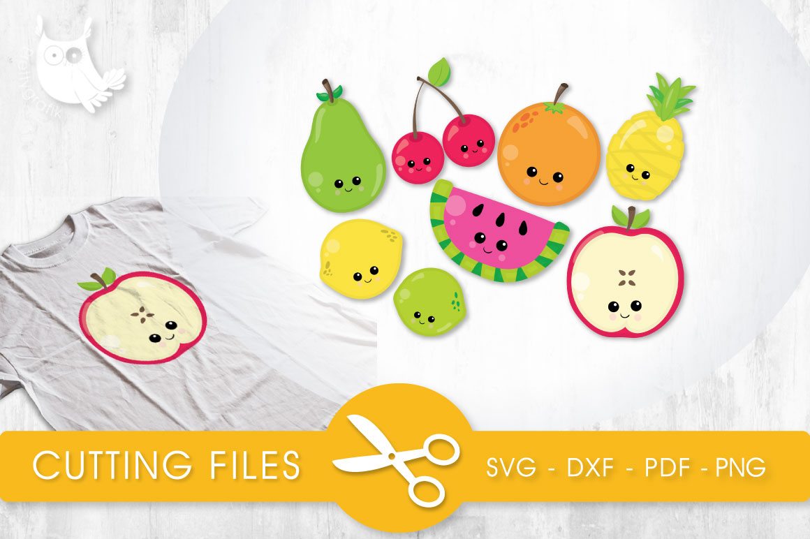 Cutesy Fruit Graphic Crafts By PrettyCuttables