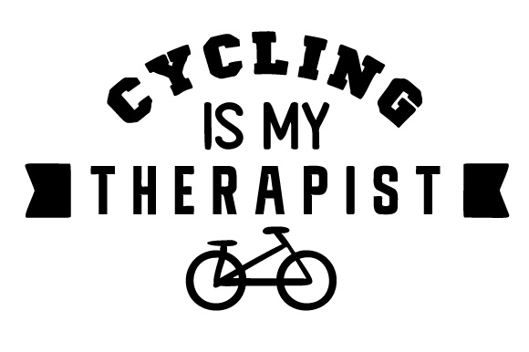 Cycling is My Therapist Sports Craft Cut File By Creative Fabrica Crafts
