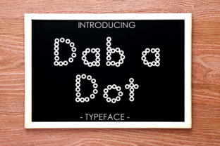 Print on Demand: Dab a Dot Display Font By yh.seaofknowledge