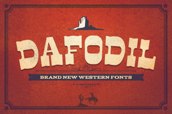 Print on Demand: Dafodil Display Font By flavortype - Image 1