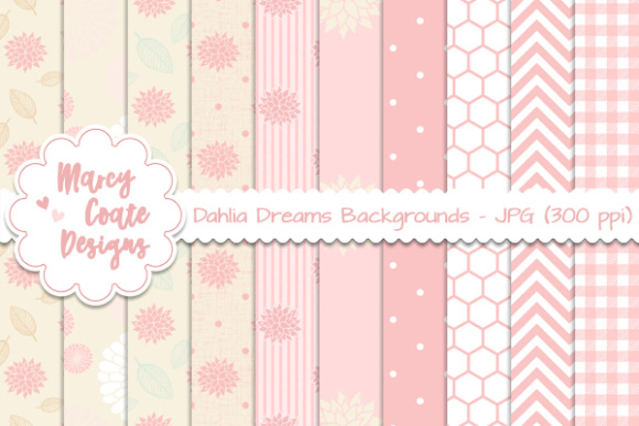 Dahlia Dreams Backgrounds Graphic Patterns By MarcyCoateDesigns