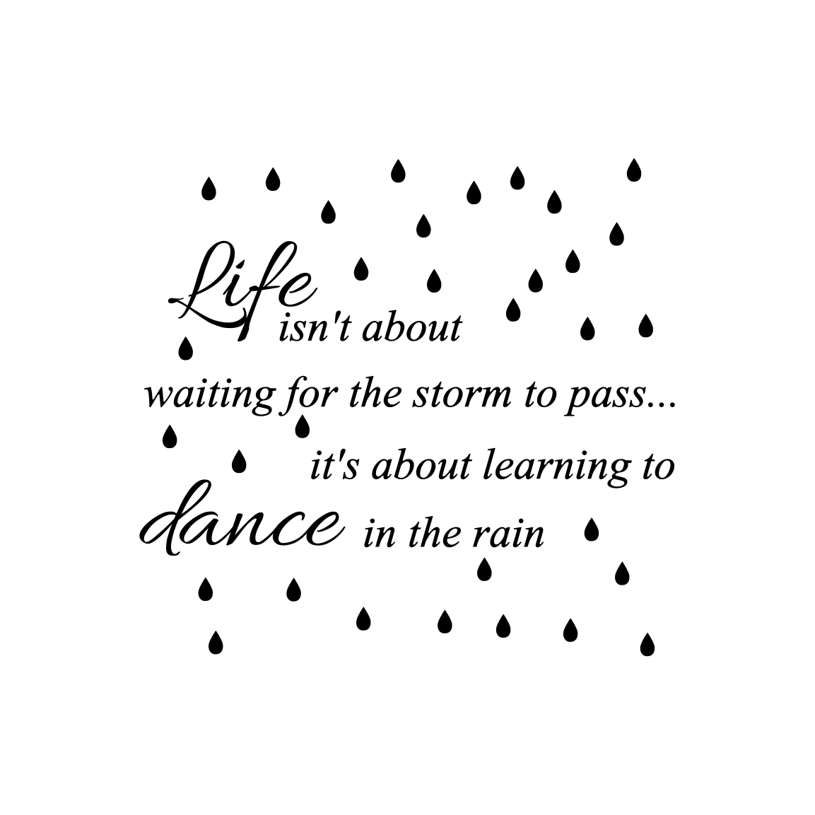 Dance in the Rain Graphic Crafts By Ellesbellescraft