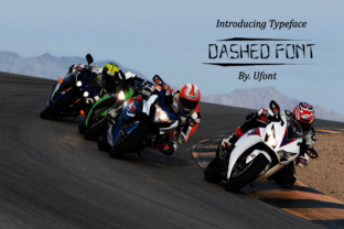 Print on Demand: Dashed Display Font By ufonts