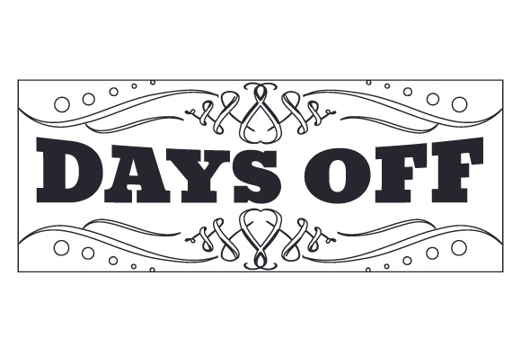 Days off Planner Craft Cut File By Creative Fabrica Crafts