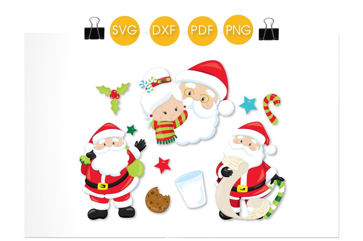 Download Free Dear Santa Graphic By Prettycuttables Creative Fabrica for Cricut Explore, Silhouette and other cutting machines.