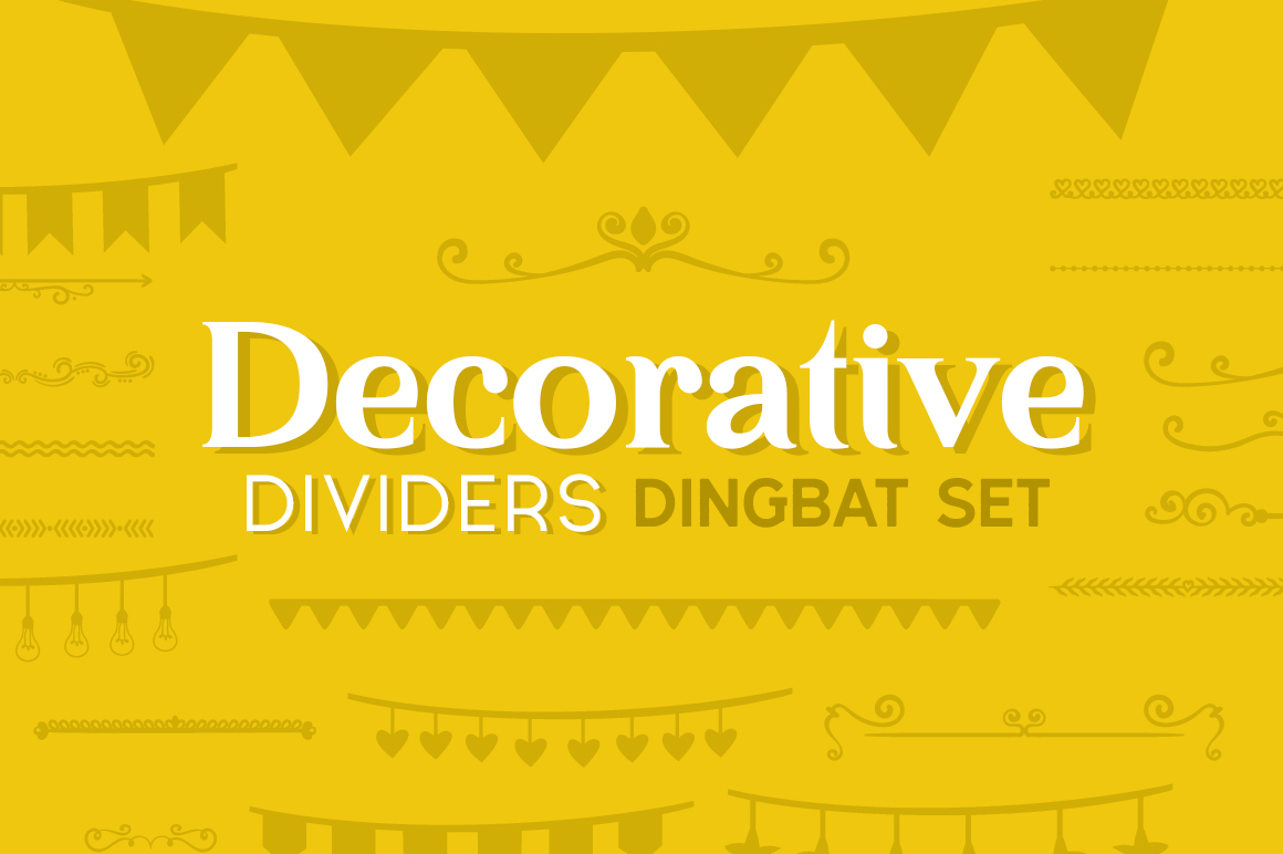 Print on Demand: Decorative Dividers Dingbat Set Dingbats Font By Creative Fabrica Fonts