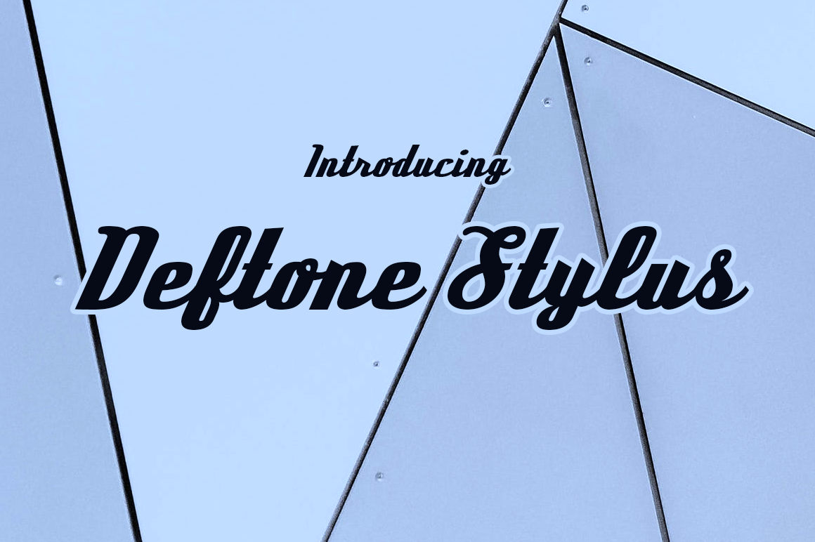 Deftone Display Font By Typodermic