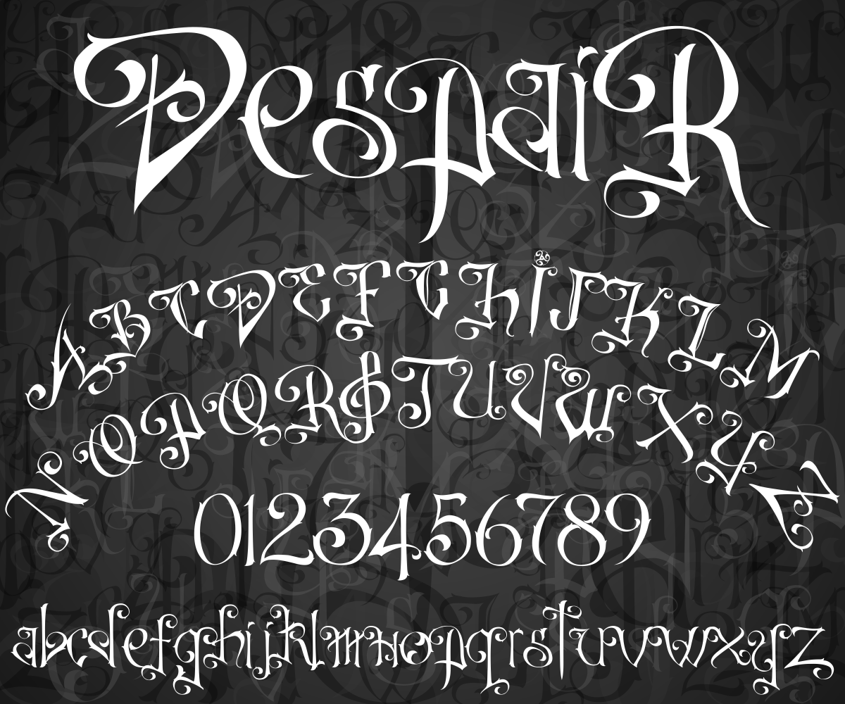 Print on Demand: DespaiR Decorative Font By sabanovicid - Image 1