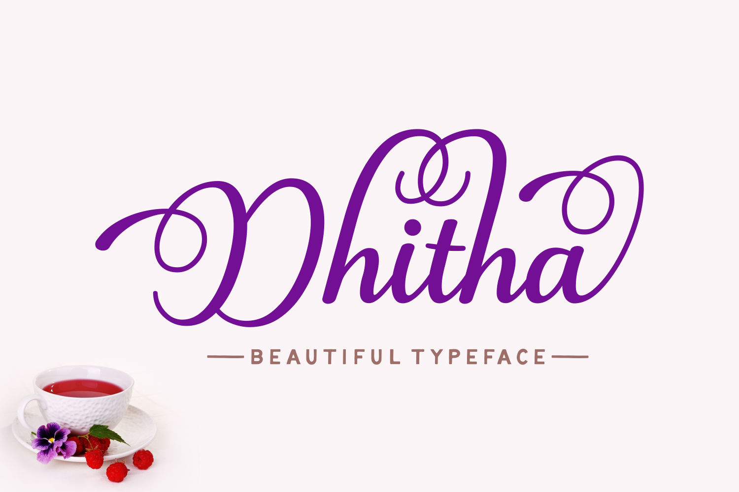 Print on Demand: Dhitha Script & Handwritten Font By Andrian Dehasta