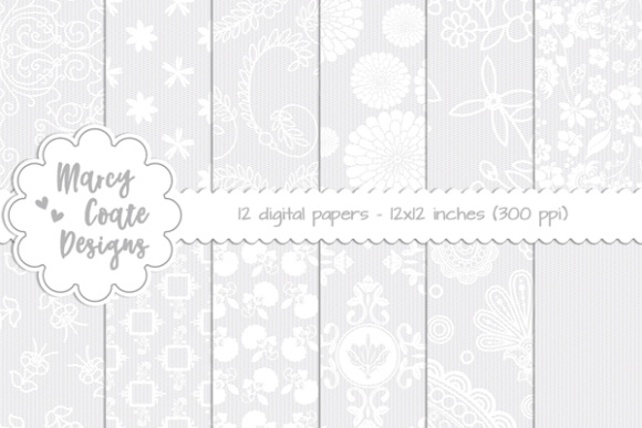 Digital Lace Background Set 2 Gráfico Moldes Por MarcyCoateDesigns