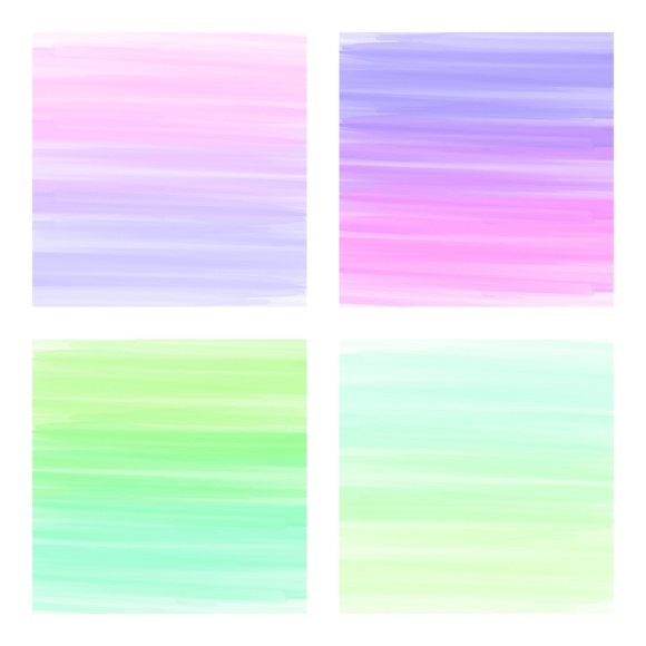 Print on Demand: Digital Scrapbook Paper - Rainbow Paint Smears Graphic Textures By daphnepopuliers - Image 2