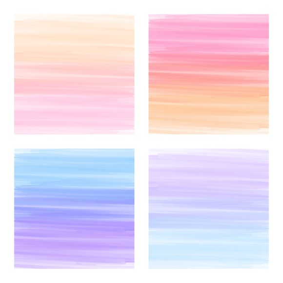 Print on Demand: Digital Scrapbook Paper - Rainbow Paint Smears Graphic Textures By daphnepopuliers - Image 3