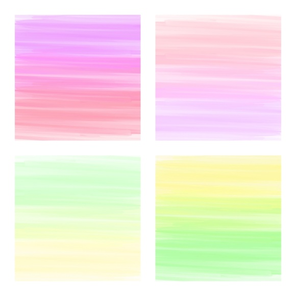 Print on Demand: Digital Scrapbook Paper - Rainbow Paint Smears Graphic Textures By daphnepopuliers - Image 4