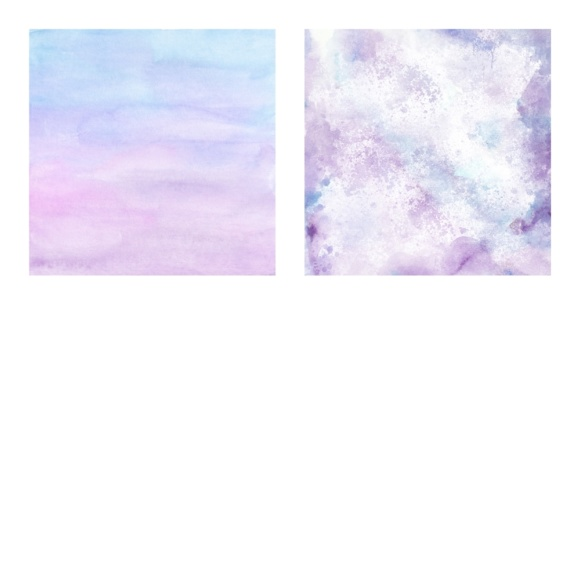 Print on Demand: Digital Scrapbook Paper - Watercolor Ombres in Blue & Purple - Waterpaint Textures Graphic Textures By daphnepopuliers - Image 4
