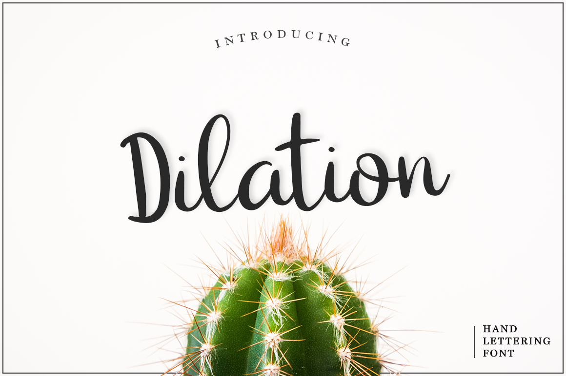 Print on Demand: Dilation Script & Handwritten Font By Pasha Larin - Image 1