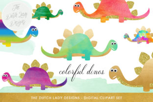 Download Free Dinosaur Clipart Set Graphic By Daphnepopuliers Creative Fabrica for Cricut Explore, Silhouette and other cutting machines.